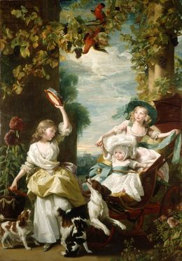 , 'The Three Youngest Daughters of George III,' 1785, Royal Collection Trust
