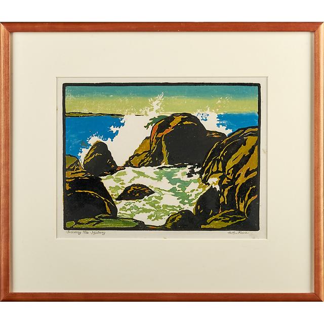 "William S. Rice, '""Incoming Tide - Monterey,"" California', ca. 1920, Rago/Wright"