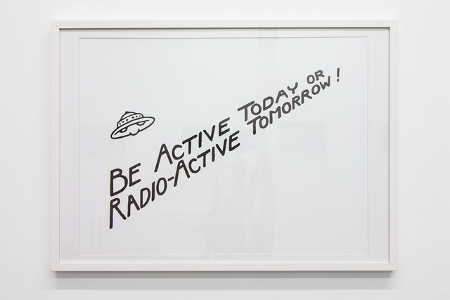 , 'Be Active Today or Radio-Active Tomorrow!,' 2013, Nina Johnson
