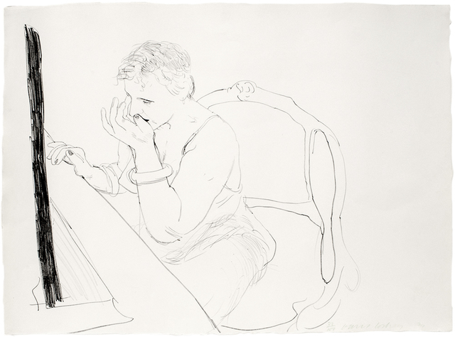 David Hockney, 'Celia Adjusting her Eyelash', 1979, Mary Ryan Gallery, Inc