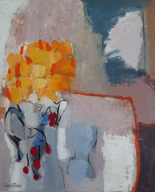 , 'Bouquet Jaune à la Cruche aux Cerises,' 2011, Susan Eley Fine Art