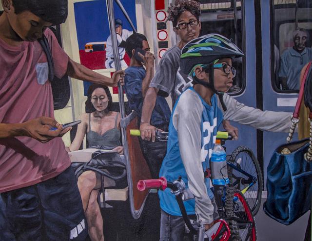 , 'Red Line,' 2018, Lois Lambert Gallery