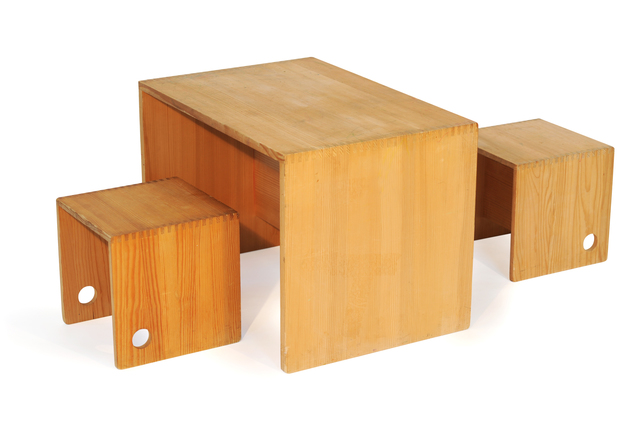 , 'Tripolino Table & stools,' 1957, kinder MODERN