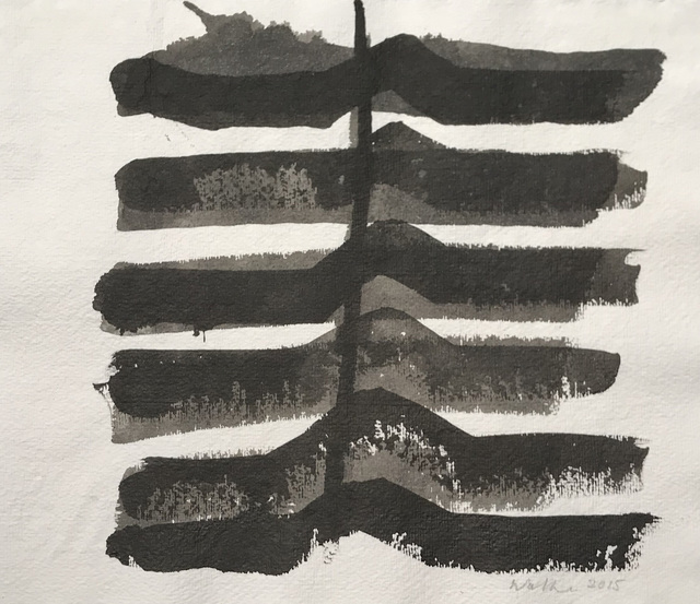 John Walker (b.1939), 'Untitled', 2015, Drawing, Collage or other Work on Paper, Ink on paper; mixed media on paper, New York Studio School