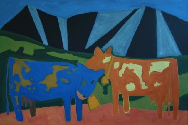 , 'Mountains and Cows,' 2017, Cerulean Arts