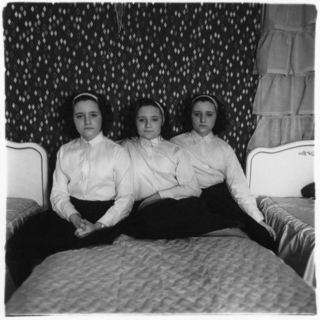 Diane Arbus, 'Triplets in Their Bedroom', 1963, Robert Klein Gallery