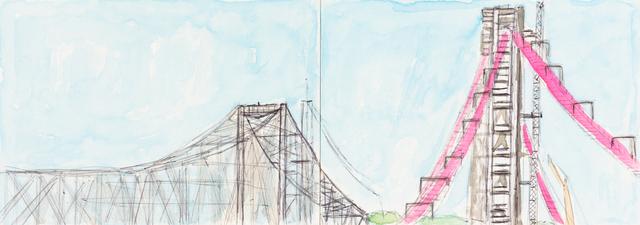, 'New Bay Bridge Under Construction,' 2014, Creativity Explored