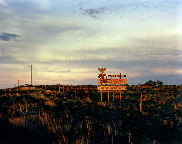 , 'Sign on I-40 West of Tucumcari, New Mexico, July, 1990,' , photo-eye Gallery
