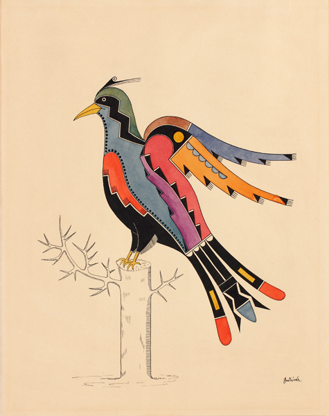 , 'Bird; San Ildefonso Pueblo, New Mexico,' ca. 1930, Newark Museum