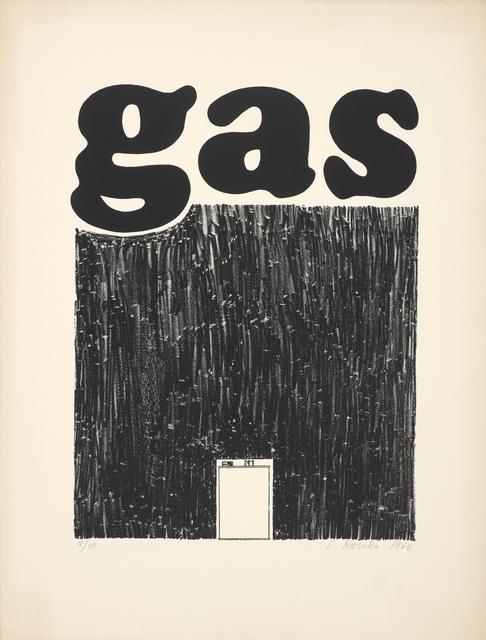 Ed Ruscha, 'Gas', 1962, de Young Museum