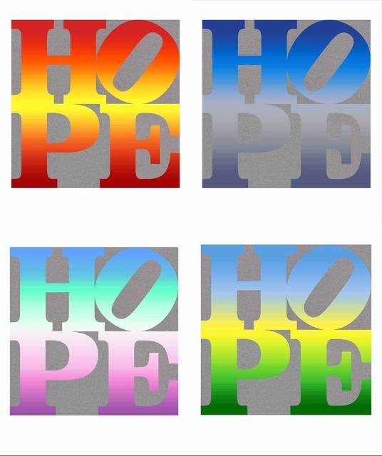 , 'Four Seasons of HOPE (Silver) A Portfolio of Four Silkscreen Prints,' 2012, Rosenbaum Contemporary