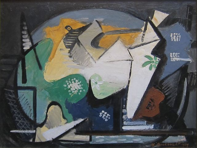 Hans Burkhardt, 'Untitled (Cubist Composition)', 1939, Painting, Oil on canvas, Hollis Taggart