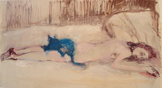 "Olga Gorokhova, '""Blue cat""', 2018, Krokin Gallery"