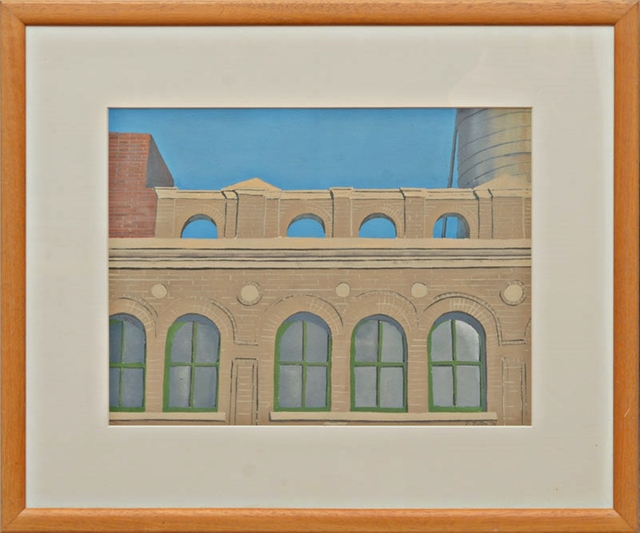 John Button, 'VIEW: ARCADE (Framed with Fischbach and Kornblee Gallery Labels)', 1975, Alpha 137 Gallery