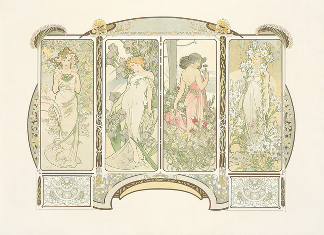 Alphonse Mucha, 'The Flowers. ', 1900, Rennert's Gallery