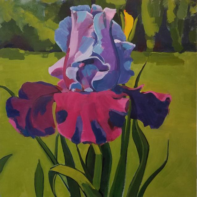 Jenn Hallgren, 'Large Iris', 2017, Painting, Oil on canvas, InLiquid
