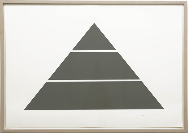 Alan Charlton, 'Divided Horizontal Triangle (3 parts)', 2017, Walter Storms Galerie