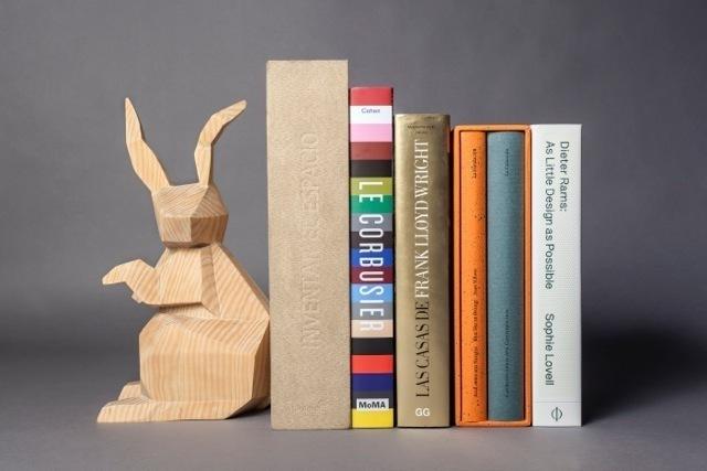 ", '""Conejo Origami"" book stopper,' 2014, Casa Gutiérrez Nájera"