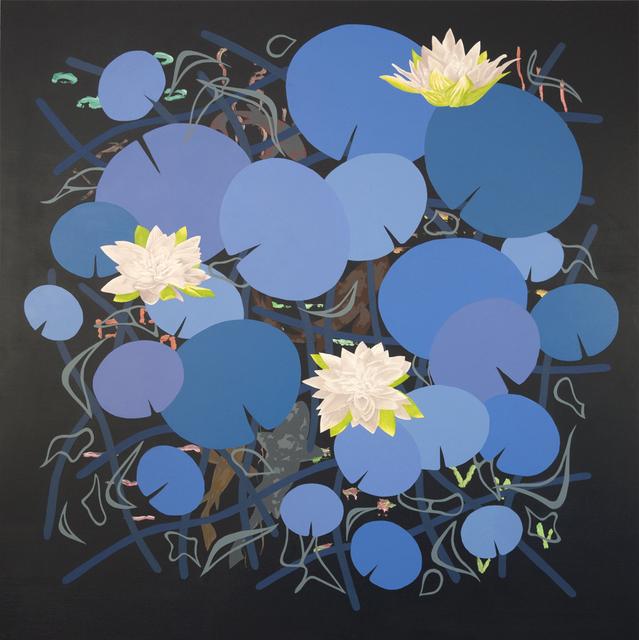 , 'Lilies in Blue ,' 2014, Diane Rosenstein