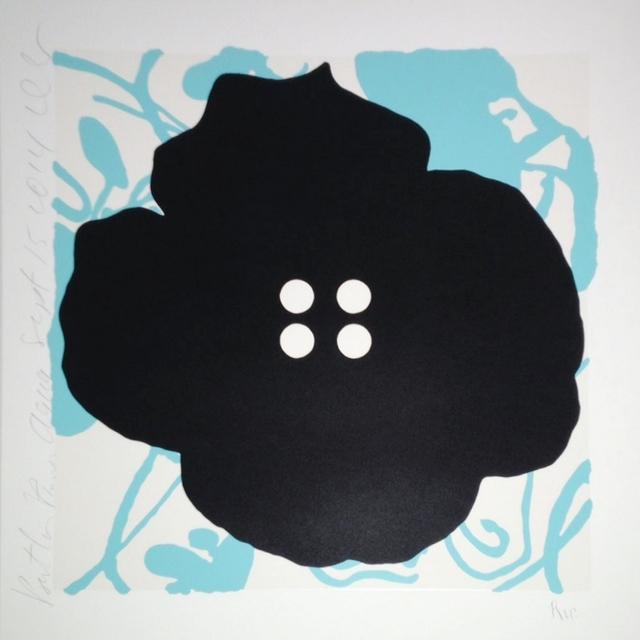 , 'Button Flower, Aqua, Sept. 15, 2014,' 2014, William Campbell Contemporary Art, Inc.