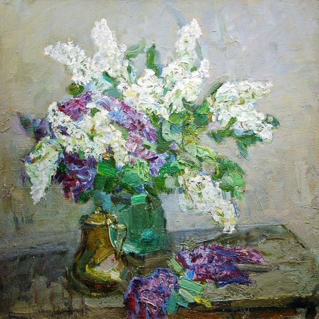 Fedor Zakharov, 'Spring Still Life With Lilacs', 1983, Vail International Gallery