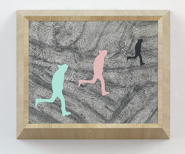 , 'Running Man (triple) View 1,' 2013, Gagosian