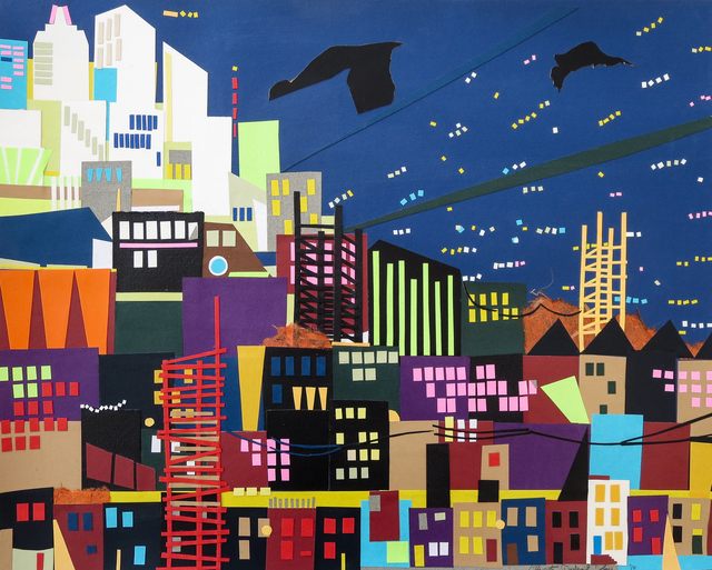 , 'Evening Cityscape,' , InLiquid