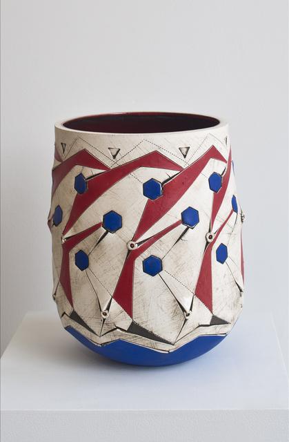 , 'Scarified Red/Blue honeycomb vase,' 2015, 50 Golborne
