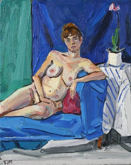 , 'Nude with Orchid,' 2017, Mall Galleries