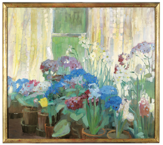 , 'Large Still Life with Pot Plants, Hydrangeas, Hyacinths, and Daffodils,' 1912, Galerie Kovacek