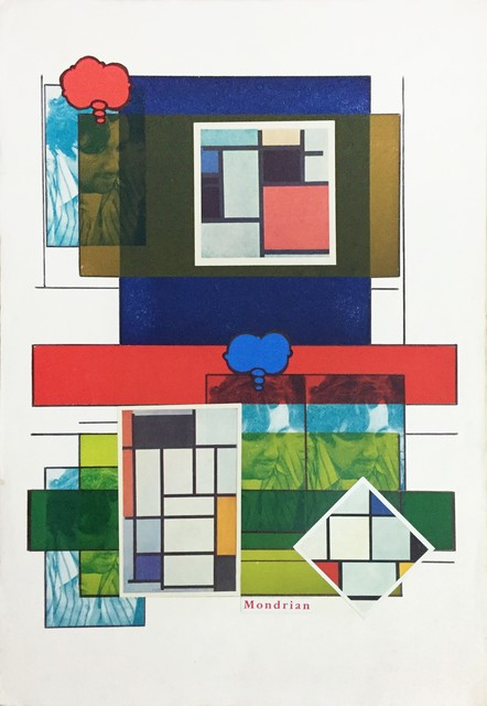 , 'Self Portrait and Mondrian, from the series 'Mondrian',' 1985, Galeria Superfície