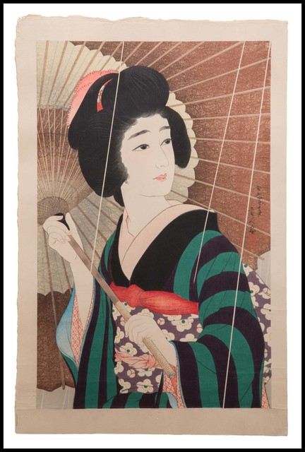 Kotondo Torii, '雨 (Ame, Rain)', 1929, Verne Collection, Inc.