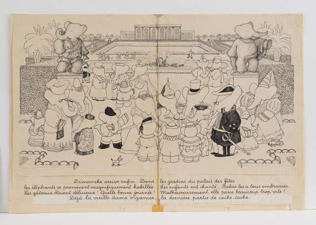 ", '""Gardens of the Amusement Park in Celesteville,"" illustration for Babar the King,' 1936, Mary Ryan Gallery, Inc"