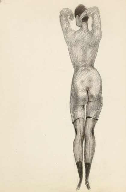 , 'Nude from the Back with Half Stockings,' ca. 1919, Galerie Bei Der Albertina Zetter