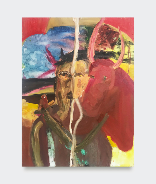 Grace Metzler, 'Woman + Ox', 2019, Painting, Oil and acrylic on canvas, V1 Gallery