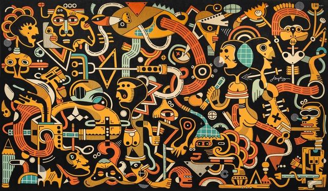 """, 'Our Ancestors VI """"Overloaded Rain Vapour"""" 我们的祖先 VI """"过载的雨汽"""",' 2017, Galerie Dumonteil"""