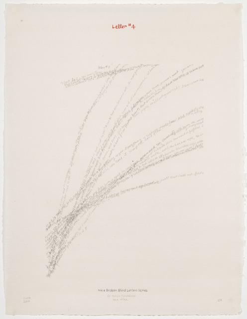 , 'Letter #4,' 2004, Travesia Cuatro
