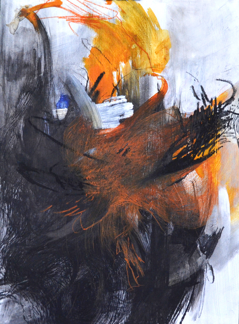 Emma C. Aspeling, 'Crouching: is it overworked? ', 2019, Painting, Mixed media on board, 99 Loop Gallery