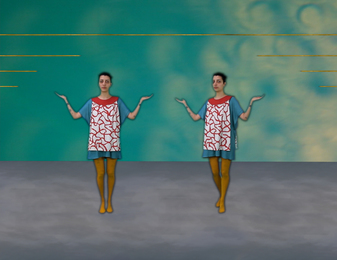 Two Friends and Two Curtains (dance sequence)