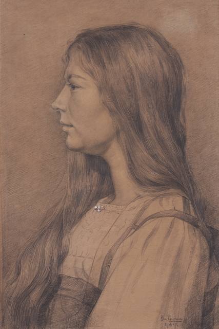 , 'Young Woman in Profile,' 1906, Mireille Mosler Ltd.