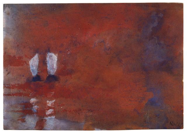 , 'Aquarell mit zwei Seglern (Schwüler Abend),' ca. 1946, Ludorff