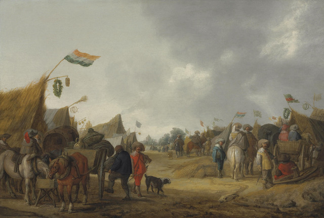, 'A military encampment,' 1634, Christie's Old Masters
