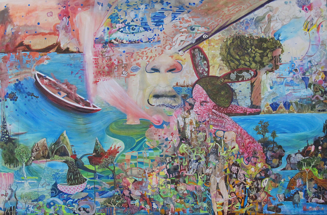 Salvador Luna, 'Lengua en sinfonía ', 2019, Galería Mónica Saucedo