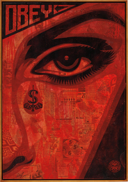 Shepard Fairey, 'Eye Alert (Red),' 2010, Phillips: 20th Century and Contemporary Art Day Sale (February 2017)