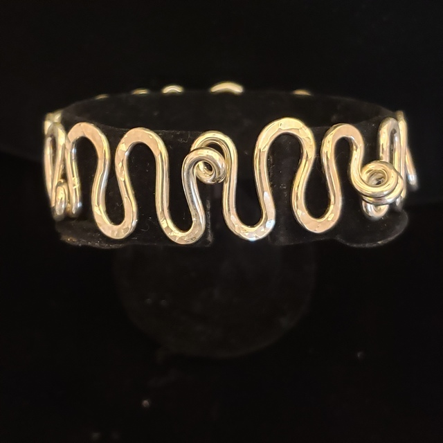 Meghan Tippy Reese, 'Squiggle Bracelet ', 2018, Jewelry, Sterling Silver, Springfield Art Association