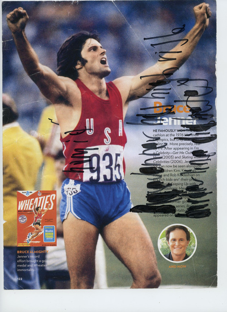 , 'Bruce Jenner has High Risk Borderline Diabetes [framed],' 2016, Creativity Explored