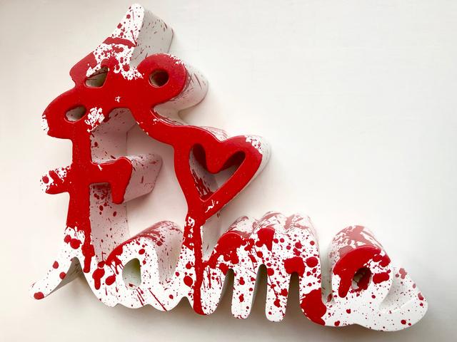 Mr. Brainwash, 'Je T'aime Splash Red', 2020, Sculpture, Resin and spray paint, Frank Fluegel Gallery