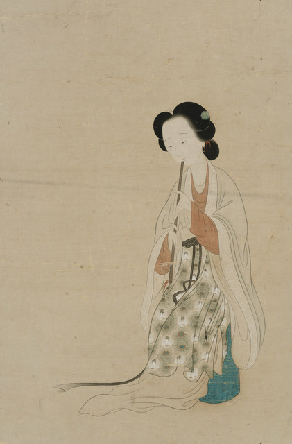 , 'Lady Playing a Flute,' Undated, Art Museum of the Chinese University of Hong Kong