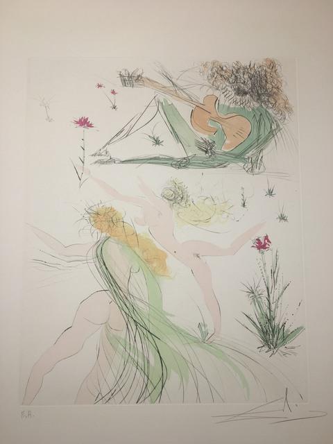 Salvador Dalí, 'La Joie de vivre', 1971, Drawing, Collage or other Work on Paper, Original engraving + color, Dali Paris