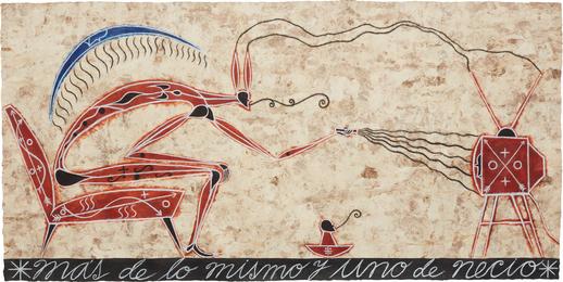 José Bedia, 'Más de lo mismo y uno de necio,' 2000, Phillips: Latin America